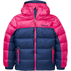 Marmot Guides Chaqueta Plumón Capucha Niños, arctic navy/very berry